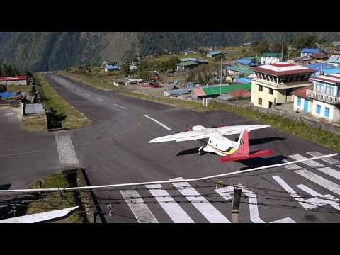 Lukla Tenzing-Hillary Airport Oct 2010 - 7 minutes airport action
