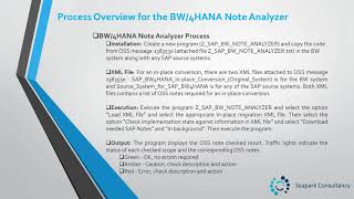 Unit 5 – SAP BW/4HANA Note Analyzer