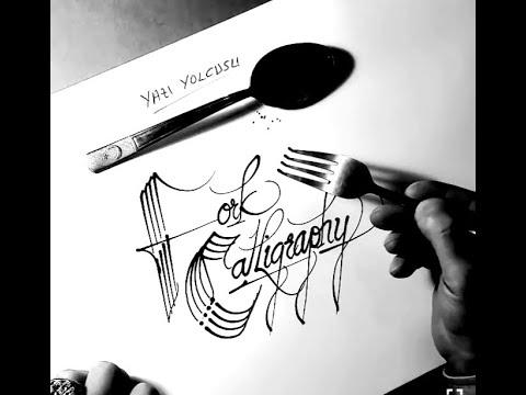 Writing Calligraphy with a Fork