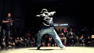 SHUN (Exze) vs CHU (sinario)  SEMI FINAL① / DANCE@LIVE HIPHOP KANSAI CHARISMAX 2015