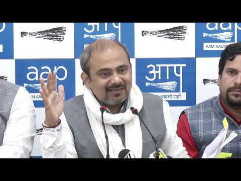 AAP Leader Dilip Pandey Briefs on Loot of Rani Jhansi Flyover