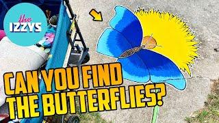 Can you find the sidewalk chalk butterflies?!