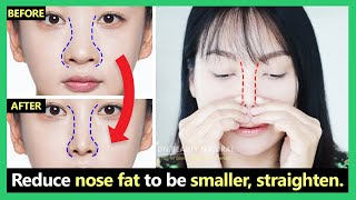 How to reduce big nose size, nose fat to small,slim,straight natural (new techniques & Best results)