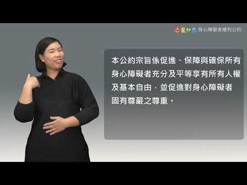 CRPD身心障礙權利公約臺灣手語版