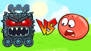 RED BALL 4 Epic BOSS FIGHT ALL Volume 5 INTO THE CAVE Update level cartoon game walkthrough