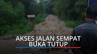 Longsor di Alahan Panjang, Akses Jalan Baru Bisa Dilewati Pukul 20.30 WIB
