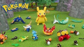 Pokemon Assembly Model Kit Generation 5 with Pikachu | Compilation | Toys For Kids