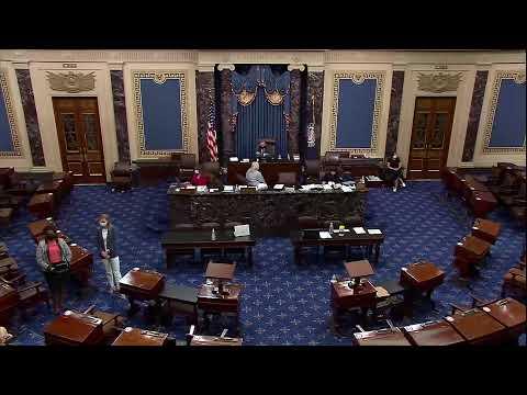 Senate leaders speak on the Senate floor after the election