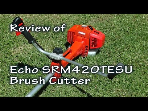 Echo SRM420TESU Brush Cutter Review, Grass Wrapping Around Gear Head