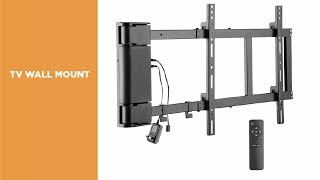 PLB-M03G Panning Motorized TV Wall Mount with Remote Controller Overview Video
