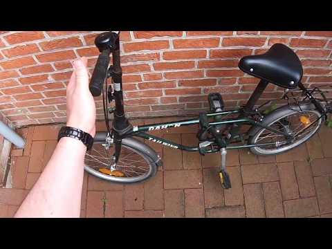 Faltrad montieren 20 Zoll Klapprad mit Quick-Fold-System Klappfahrrad benutzen Retro Falt Anleitung