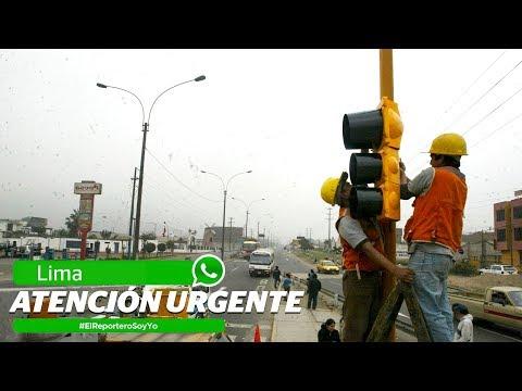 Semáforos en Lima necesitan atención urgente