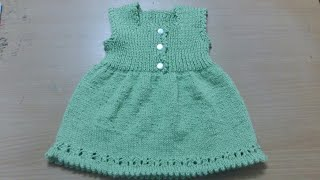 Knit Baby Dress for 0 to 3 months. beginners friendly
