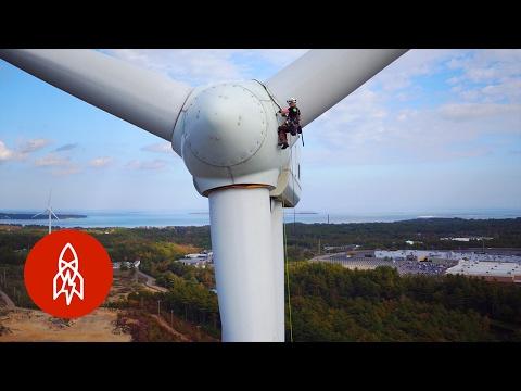 Fixing Wind Turbines Requires Nerves of Steel