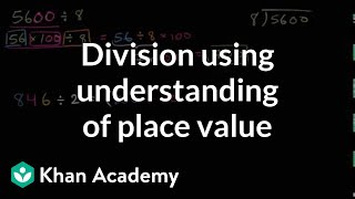 Division Using Understanding Of Place Value