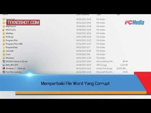Video Memperbaiki File Word Yang Corrupt | Tutorial by PC Media Teknoshot