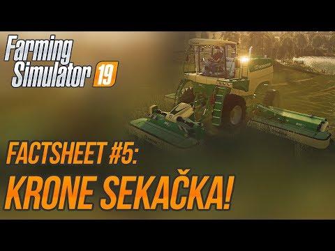 KRONE SEKAČKA! | Farming Simulator 19 FactSheet #5