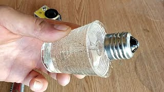 Залил в лампу накаливания эпоксидку. Ба-бах Эксперимент. Incandescent lamp in epoxy resin.