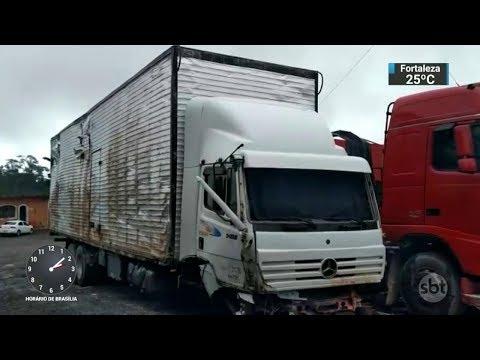 Ladrões de carga fizeram mais uma vítima na BR-116 na altura da Serra do Cafezal