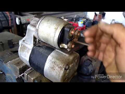 falla típica de un motor de arranque