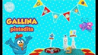 GALLINA PINTADITA - 4 Ideas Para Decorar Tu Fiesta De La Gallina Pintadita 😄 | Party Pop!🎉|