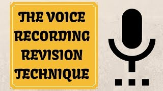 How to VOICE RECORD YOUR STUDY NOTES.This technique is perfect for definitions/topics/audiolearners.