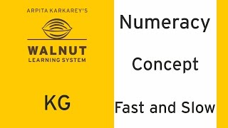 KG - Numeracy - Concept - Fast and slow