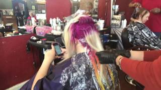 Neon Light Bright Hair Color