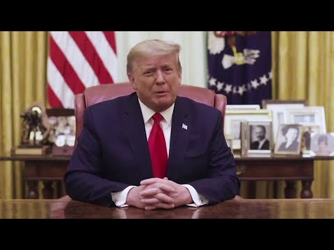 Trump condemns Capitol Hill violence in video that does not mention impeachment
