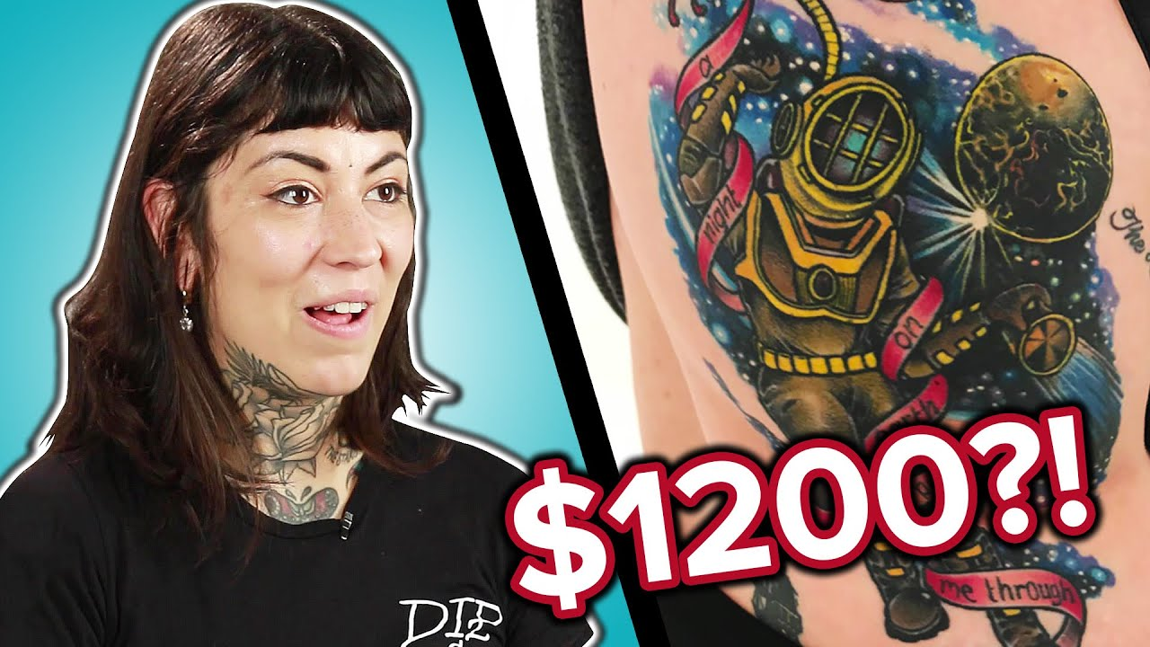 Tattoo Artists Guess The Prices of Tattoos thumbnail
