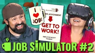 ADULTS PLAY VR! Job Simulator: Office Worker (Adults React: Gaming)