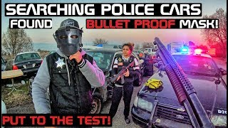 Searching Police Cars Found Bullet Proof Mask! Put To The Test!