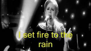 ADELE   Set Fire To The Rain [HD]  Video Lyrics (Legendado Em Inglês)