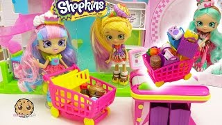 Shoppies Dolls Go Shopping at Small Mart for Season 6 Chef Club Shopkins 12 + 5 Pack