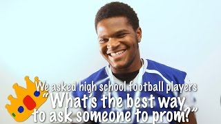 What's the best way to ask someone to prom? High school football players share best promposal ideas