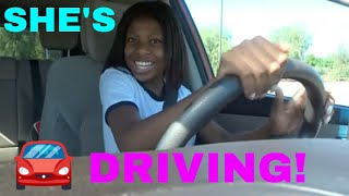 Cidrina Drives For The First Time Ever!!!