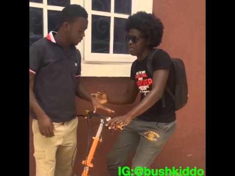 Bushkiddo-Selfie stick struggle