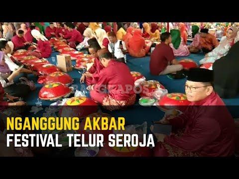 Nganggung Akbar dan Festival Telur Seroja di Acara HUT ke-262 Kota Pangkalpinang