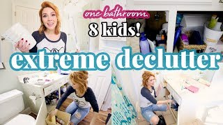 EXTREME DECLUTTER \ Kids Bathroom Clean + Organize \ Before + After