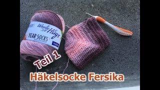 Toe Up Socken Häkeln Lernen Fortgeschrittene видео смотреть