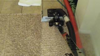 Using The 15in Zipper Wand On A Heavily Soiled Carpet.