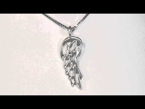Angel Wing Pendant-sterling silver