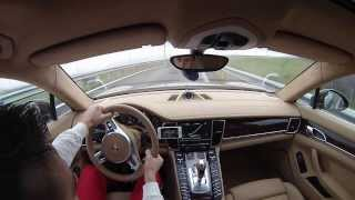 Porsche Panamera Turbo 317km/h on Kosovo highway
