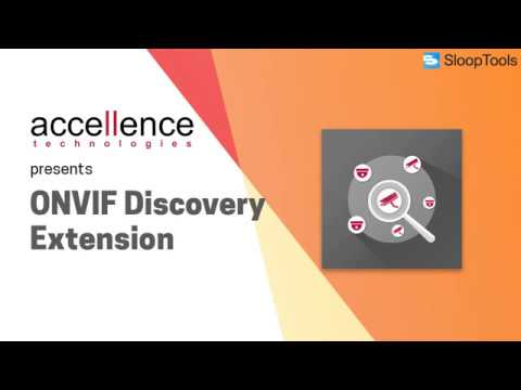 ONVIF Discovery Extension - SloopTools Store