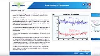 TGA Curve Interpretation