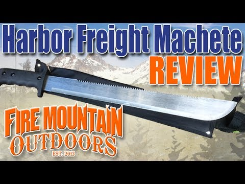Harbor Freight Machete Review and Demonstration. Perfect for bug out or bushcraft?
