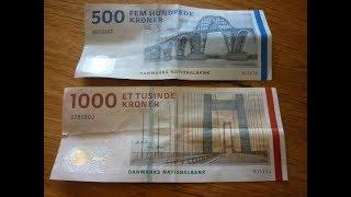 1000 denmark krona currency note