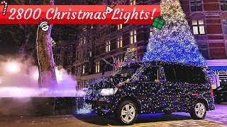 2,800 Christmas Lights On Our VW Camper Van!