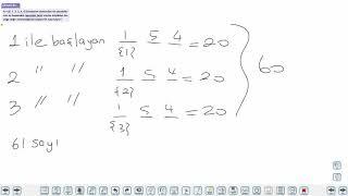 Eğitim Vadisi 10.Sınıf Matematik 1.Föy Sayma ve Olasılık 4 Konu Anlatım Videoları