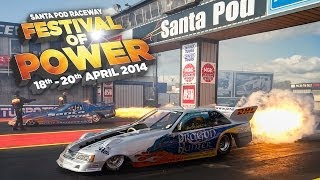 preview picture of video 'Festival of Power 2014 at Santa Pod Raceway'